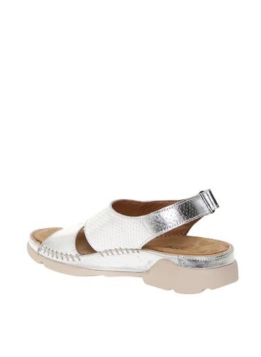Penford Penford Deri  Kadın Sandalet Gümüş